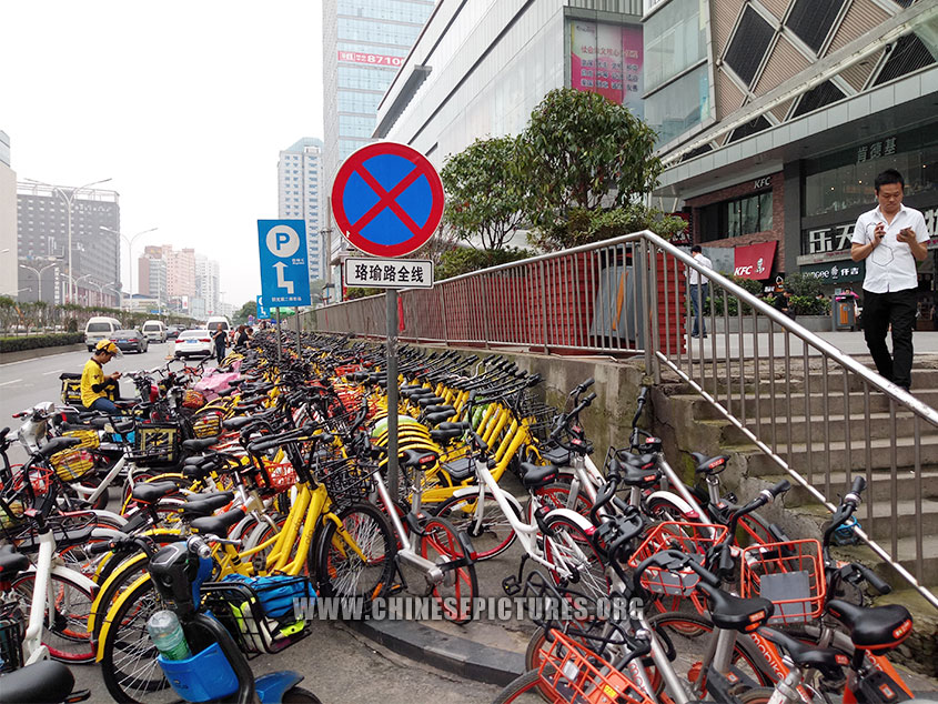 Wuhan Dock-less Shared Bike Photo