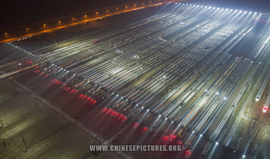 40 China High-Speed Trains Line Up